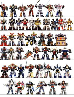 I bet I could take over the world if I had all these Zords to command.