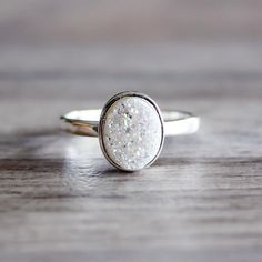 Dance to express not impress  Shinning bright for all our bohemian babes is our Oval Druzy Ring. Creating smiles, this ring is the perfect piece to brighten days. Pair beautifully with our Silver Disc Necklace  #withloveandlightxo more info Oval Druzy Ring Sterling Silver and White Druzy Ring