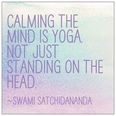 Calming the mind.  https://rayoga.com/classes