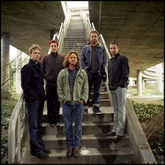 Pearl Jam...I love them so much! I wasn't always into my children's (often good) taste in music, but these guys rock...lyrics, jams...love them all.
