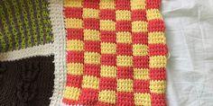 An Afghan Stitch Sampler – Block 44 (Bi-color Squares)   Quilts To Crochet