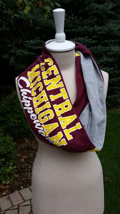 Recycled t-shirt Central Michigan University by tenthreads on Etsy