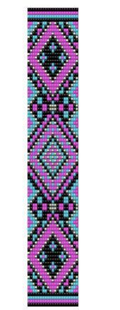 Vibrant Native American Inspired Loom Bracelet par dvorakdesigns