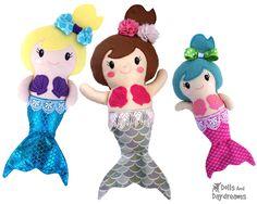 Embroidery Machine Mermaid Pattern