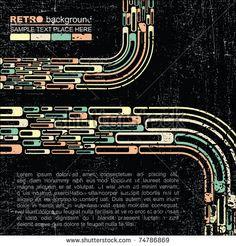Retro grange background - vector