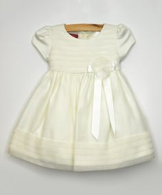 Look at this #zulilyfind! Ivory Chiffon Cap-Sleeve Dress - Infant, Toddler & Girls by Princess Faith #zulilyfinds