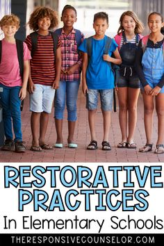 Read my comprehensive post about restorative practices to learn more about how you can adopt them as a school counselor, and also help your school adopt them as well! This includes everything from defining what restorative practices are to social emotional skills and how to incorporate informal conferencing. Read this post to get all of the ideas and tips now! Elementary Education, Kids Education, Social Skills For Kids, Intrinsic Motivation, Responsive Classroom, Social Thinking, Social Emotional Learning, School Psychology