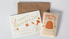 Letterpress Valentine I got in the mail the other day from Rise and Shine Paper