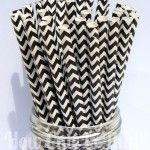 Chevron Paper Straws: Black #paperstraws How Cute is That?