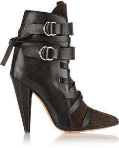 Isabel Marant Royston suede and leather ankle boots on shopstyle.com