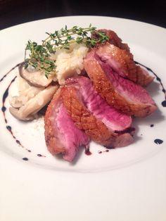 Bistro cosicosi❤︎ Today's Dinner❤︎ date❤︎2015.3  ⋈真鯛のカルパッチョ ⋈北海道鴨のロースト ~キノコのリゾット添え~ バルサミコソース  #ビストロコジコジ