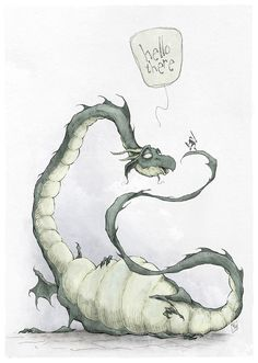 This gave me the biggest smile. Dragon by Ripplen on DeviantArt