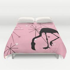 50s flashback: Flamingo Atomic style duvet cover