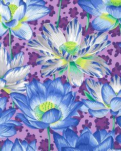 Kaffe Collective - Leopard Lotus - Lilac Purple