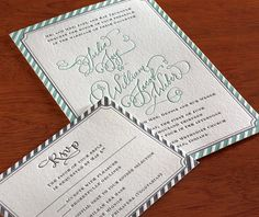 The stripes adorning our Joy invitation design take letterpress printing to a whole new level!