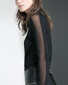 ZARA - WOMAN - SWEATER WITH TRANSPARENT PANEL AT THE SIDE