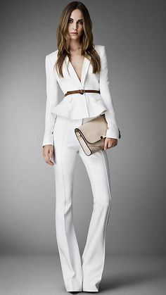 Need this white pant suit, Burberry Spring 2013