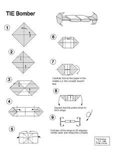 TIE Bomber Origami
