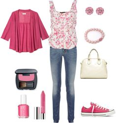 """Pink"" by maddie-callen on Polyvore"