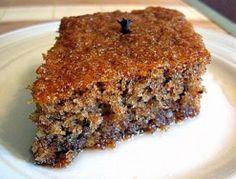 Feeling a little nostalgic, I asked my mom to share her Karydopita recipe with me. Karydopita is a Greek walnut cake but the amazing thing a. Greek Sweets, Greek Desserts, Greek Recipes, No Bake Desserts, Vegan Desserts, Greek Cake, Cake Mixture, Walnut Cake, Greek Dishes