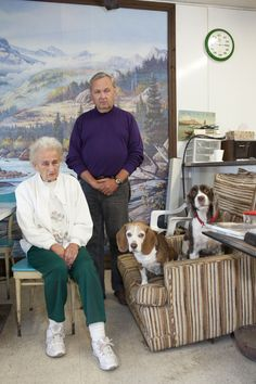 Martin Parr. USA. Leroy, New York. 2012. Randy and Peggy Sheard, owners of Sheard's Gun Shop.