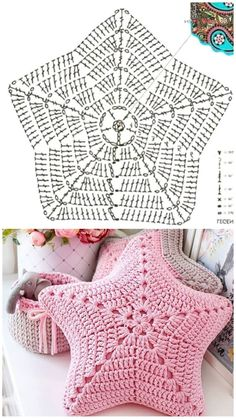 Crochet Cushion Cover, Crochet Pillow Pattern, Crochet Square Patterns, Crochet Cushions, Crochet Stitches Patterns, Crochet Diagram, Crochet Motif, Diy Crochet, Crochet Crafts