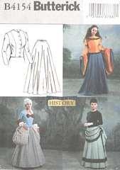 Butterick History 4154 Top, Skirt Costume Pattern 12, 14, 16