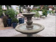 San Pietro 2 Tiered Garden Fountain by Campania International from TheGa. Tiered Garden, Garden Fountains, San, Water, Outdoor Decor, Plants, Gripe Water, Diy Garden Fountains, Planters