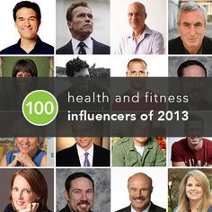 From healthy chefs and kick-butt trainers to life coaches and food policy game-changers, these 100 figures spent 2013 influencing many Americans' approach to fitness, health, and happiness.  #mostinfluential #motivation #inspiration http://greatist.com/discover/most-influential-health-fitness-people-2013