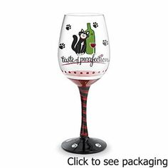 "Wine Glass ""Taste of Purrfection"", Hand Painted Glassware . $29.99. Wine Glass ""Taste of Purrfection"", Hand Painted Glassware. Taste of Purrfection Hand-Painted Wine GlassWhether wagging your tail or scratching a post, raise your glass to what you love most! For the animal lovers and caretakers amongst us. Show your love for both with these purrfect glasses.Custom hand-painting featuring meticulous detailing and whimsical themes make these glasses fun to give, g..."