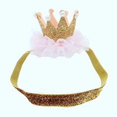 Tiara Crown photo props cake smash 1st Birthday Party Princess head/hairband  | eBay