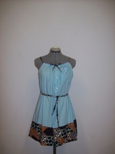 Cute idea for repurposing a Mens shirt into a dress