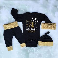 d9f84ae9b047  7.99 - Newborn Baby Boys Girls Christmas Clothes Tops Romper Pants Hat  3Pcs Outfits Us