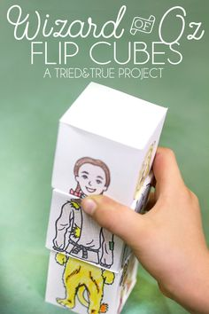 Your kid is going to have tons of fun coloring and folding these Wizard of Oz Flip Cubes. Mix and match the character's heads, bodies, and legs for tons of laughs!