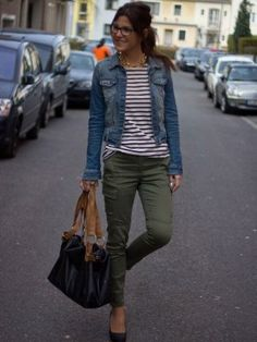 adriana355717 Outfit  Oysho t-shirt Stradivarius Jean jacket Suiteblanco pants  Invierno 2012. Cómo vestirse y combinar según adriana355717 el 12-2-2013