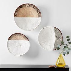 Playful and modern, our Confetti Wall Art is a set of four different shapes that you can mount to your walls in any pattern that matches your personality and room. Mirror Wall Art, Wood Wall Art, Pottery Barn Teen, Room Planning, Basket Decoration, Small Furniture, Baskets On Wall, Wall Basket, Wall Art Sets