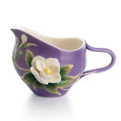 Franz Porcelain Collection Southern Charm - Magnolia Flower Creamer