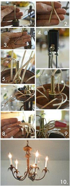 chandelier steps
