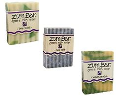Fresh and Balancing Zum Bars  LimeBasil Sea Salt  Lemongrass by Indigo Wild -- Want additional info? Click on the image.