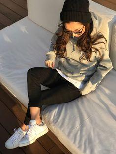 Oo.hiro.oOさんの「ユニセックス アディダス オリジナルス スタンスミス adidas Originals STAN SMITH S75075(adidas originals)」を使ったコーディネート