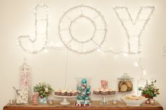 white trash beautiful., sweets table from a tree less Christmas tree by...