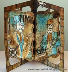 Layers of ink: Time Accordion Card