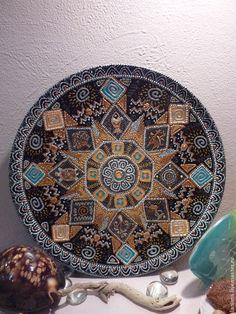 Купить Африка - оранжевый, Тарелка декоративная, тарелка настенная, путешественнику, путешествия, африканский стиль