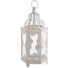 White Sahara Lantern - Small | Pier 1 Imports