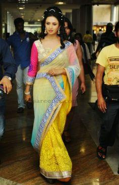 Divyanka-tripathi-half-saree