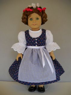 """Fits 18"""" American Girl doll Germany German folk dress clothes J (COSTUME ONLY) #Handmade #ClothingShoes"""