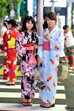 792959a4f Yukata Pictures - Jingu Gaien Fireworks x Harajuku Tokyo Fashion, Kimono  Fashion, Harajuku Fashion