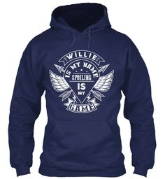 Willie Spoiling Game, Willie T Shirt!!! Navy Sweatshirt Front