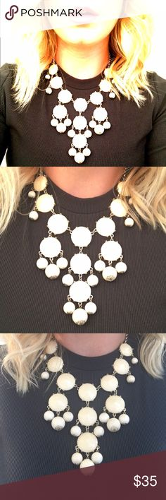CREAM STATEMENT NECKLACE Love this piece!  Versatile and can be worn in a variety of ways, different lengths, with different styles.  Fresh and fun! Jewelry Necklaces