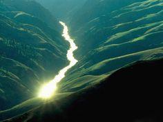 Sunlight Reflecting off the Salmon River Idaho  #landscape #sunlight #reflecting #salmon #river #idaho #photography